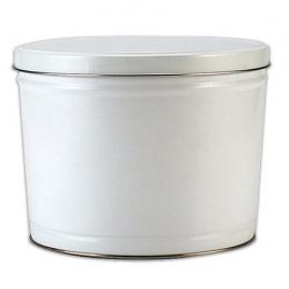 White 2 Gallon Popcorn Tin