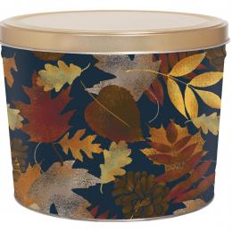 Falling Leaves 2 Gallon Popcorn Tin