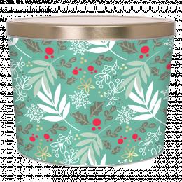 Winter's Charm 2 Gallon Popcorn Tin