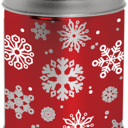 1 Quart Red with Snowflakes