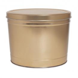 Gold 2 Gallon Popcorn Tin