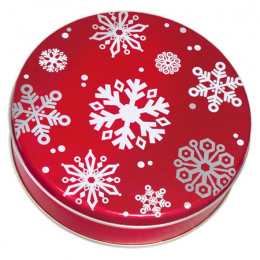 Red with Snowflakes