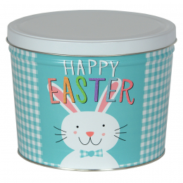 Happy Easter 2 Gallon Popcorn Tin