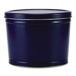 Blue 2 Gallon Popcorn Tin