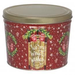 Warm Winter Wishes 2 Gallon Popcorn Tin