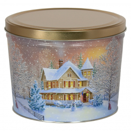 Home for the Holidays 2 Gallon Popcorn Tin