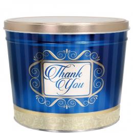 Golden Thank You 2 Gallon Popcorn Tin