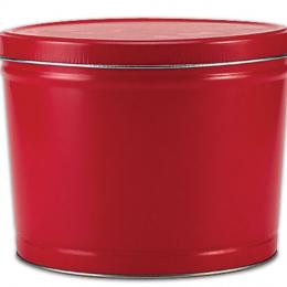 Red 2 Gallon Popcorn Tin